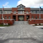 face of maine turnpike authority's brick building