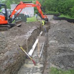 trench, pipe, digging, construction