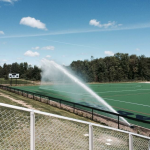court, tennis, tennis court, fence, water, spray