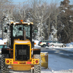 snow removal with tractor